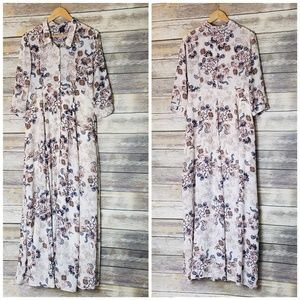 Ethereal by Paper Crane Floral Chiffon Shirt Dress